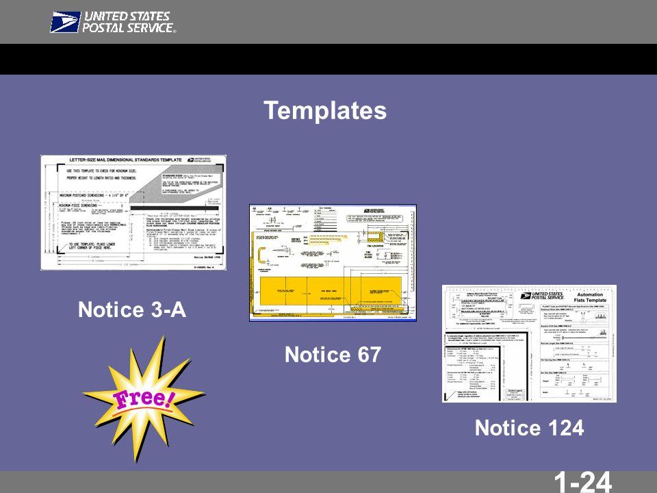 1-24 Templates Notice 3-A Notice 67 Notice 124
