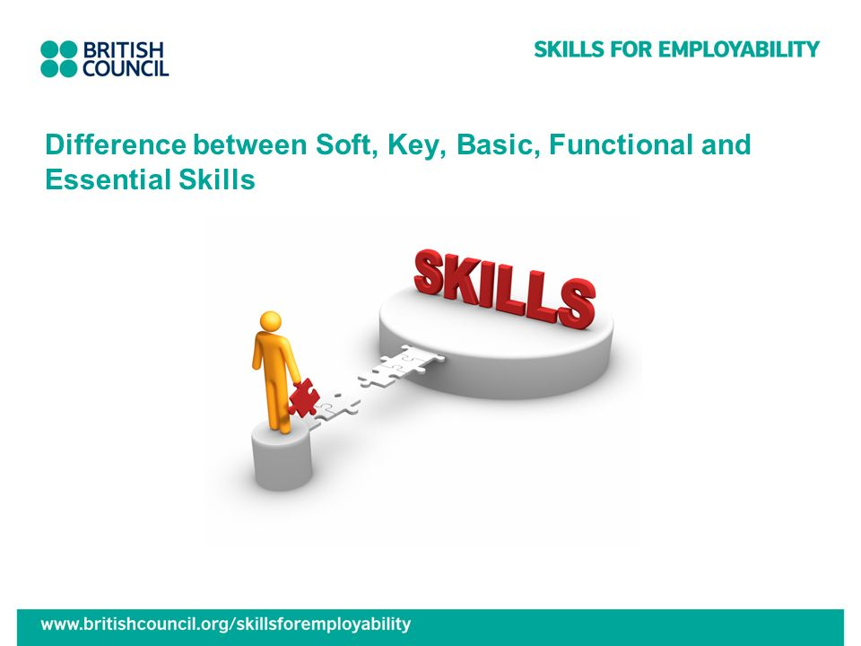 Difference between Soft, Key, Basic, Functional and Essential Skills