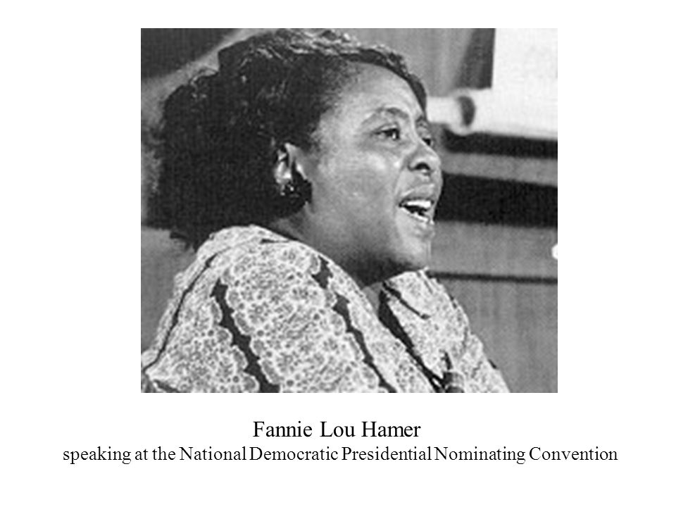 Fannie Lou Hamer speaking at the National Democratic Presidential Nominating Convention