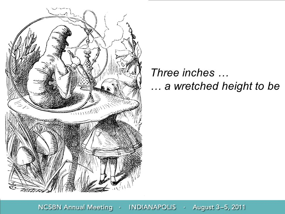Three inches … … a wretched height to be
