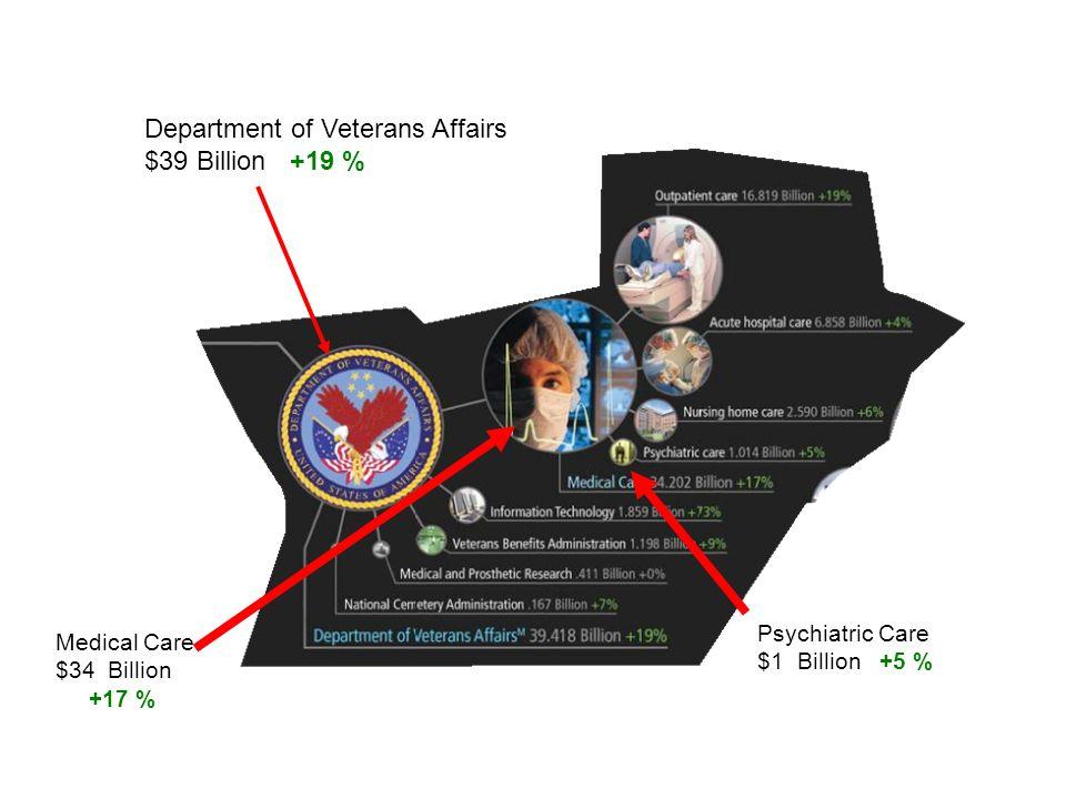 $39 Billion +19 % Psychiatric Care $1 Billion +5 % Medical Care $34 Billion +17 %