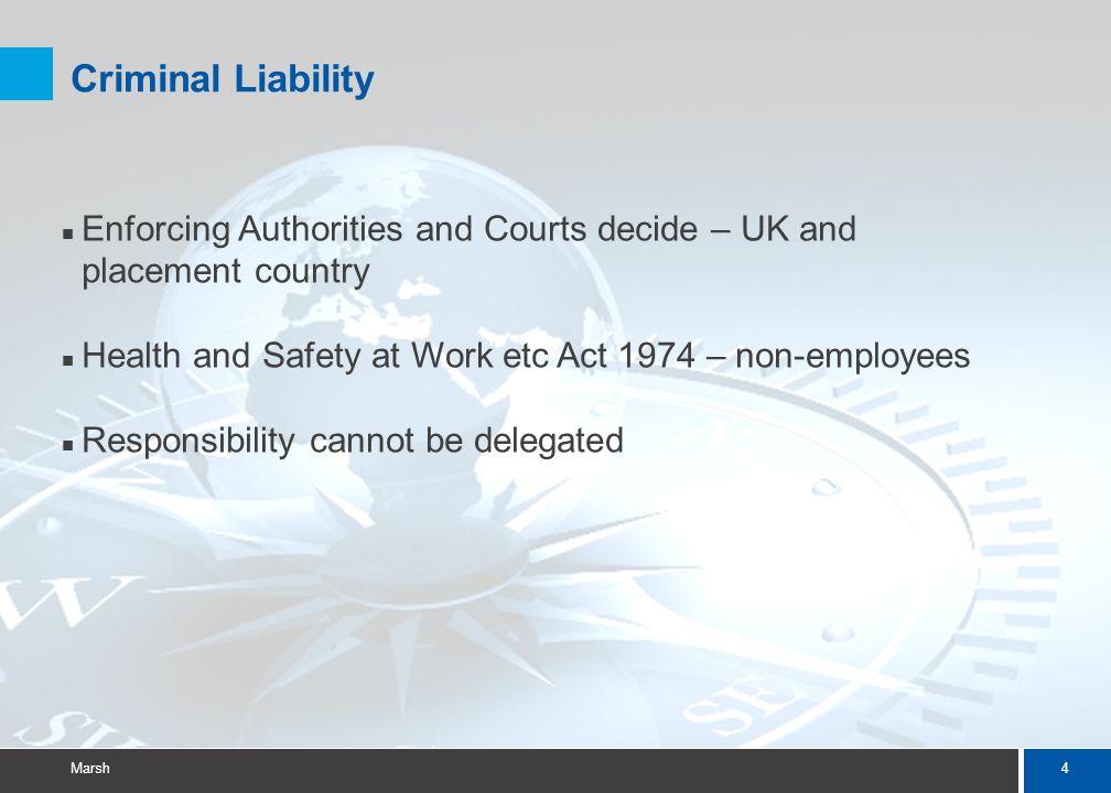 24 Marsh Insurance considerations for work placements Rachel Phillips – Marsh UK HE Practice Leader