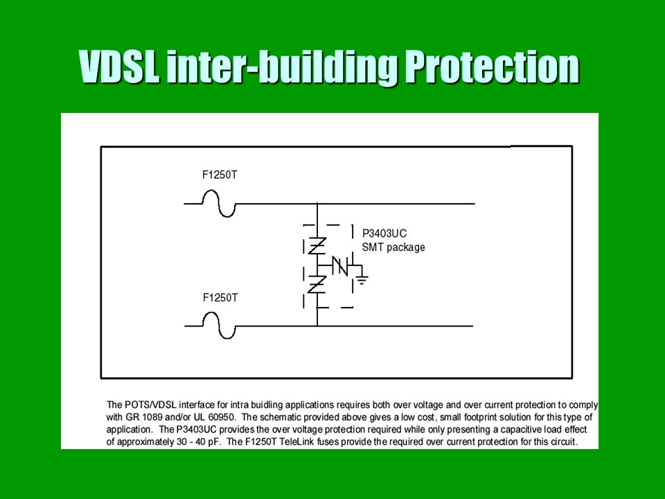 VDSL inter-building Protection