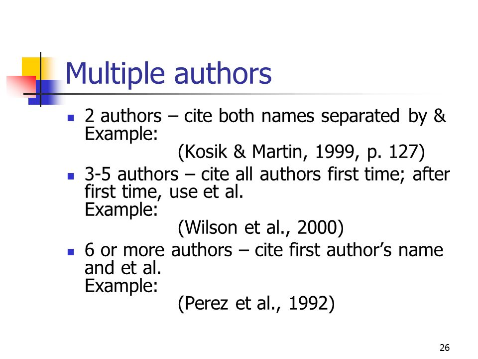 Cite multiple authors