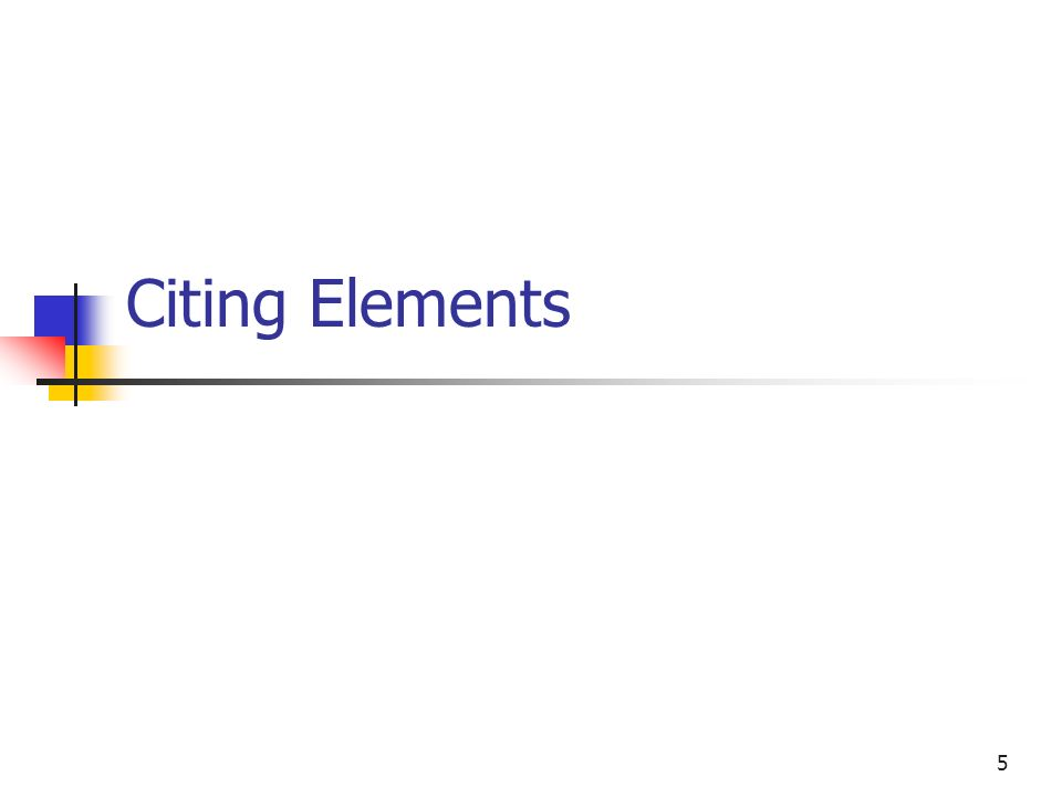 5 Citing Elements