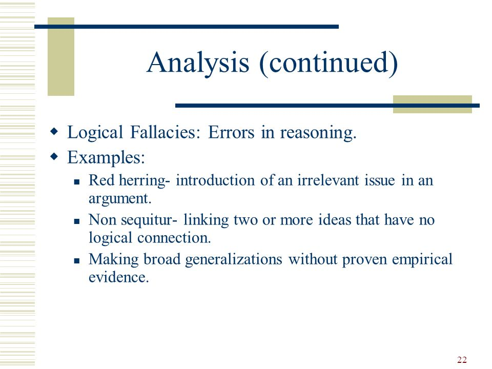 fallacies of irrelevant thesis