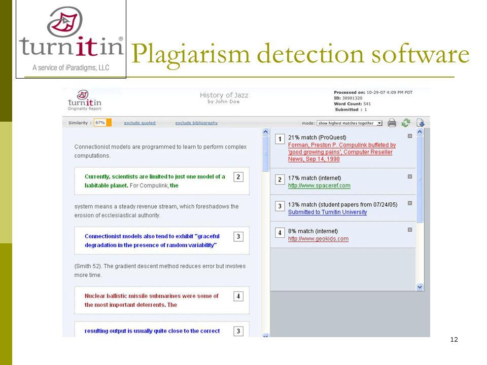 12 Plagiarism detection software