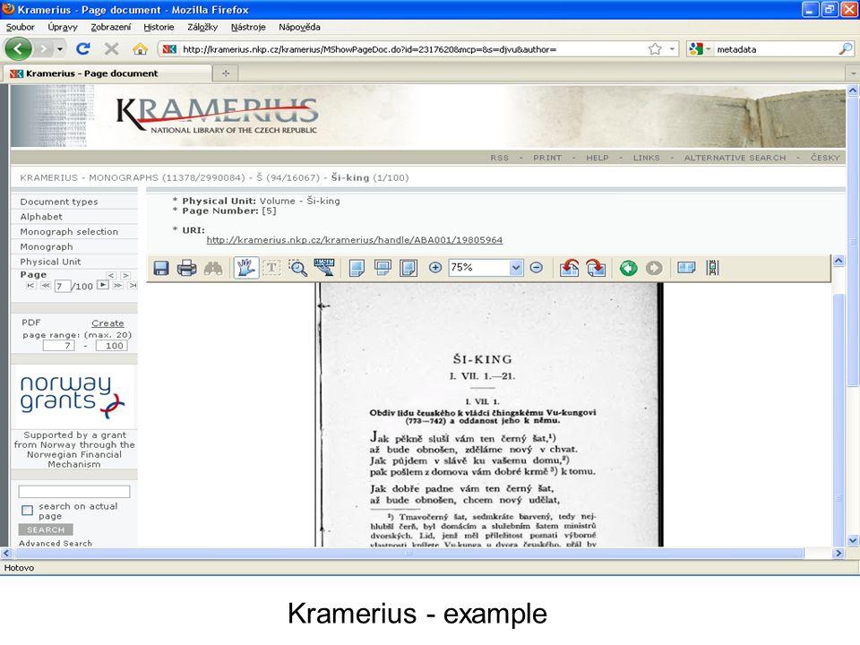 Kramerius - example