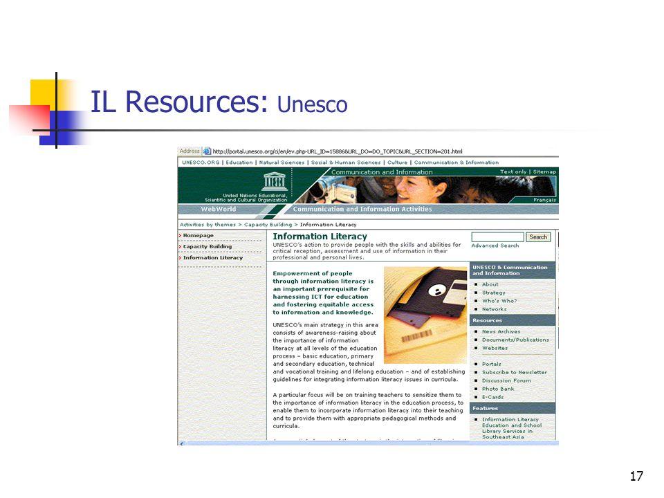 17 IL Resources: Unesco