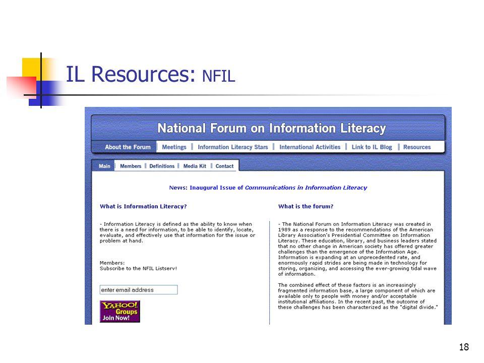 18 IL Resources: NFIL