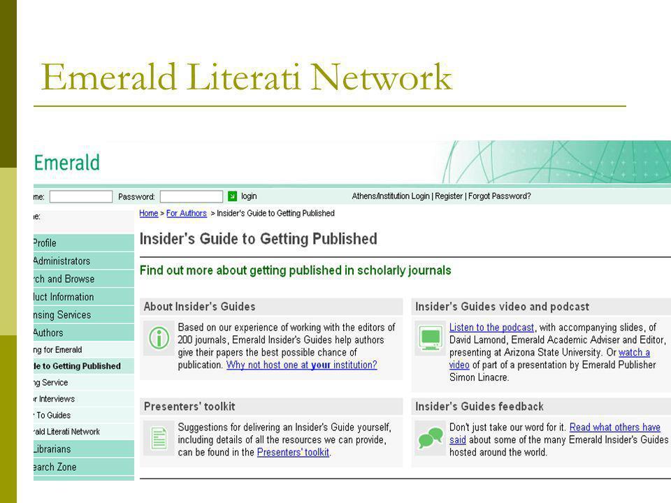17 Emerald Literati Network