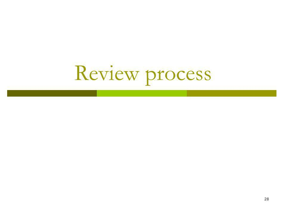 28 Review process