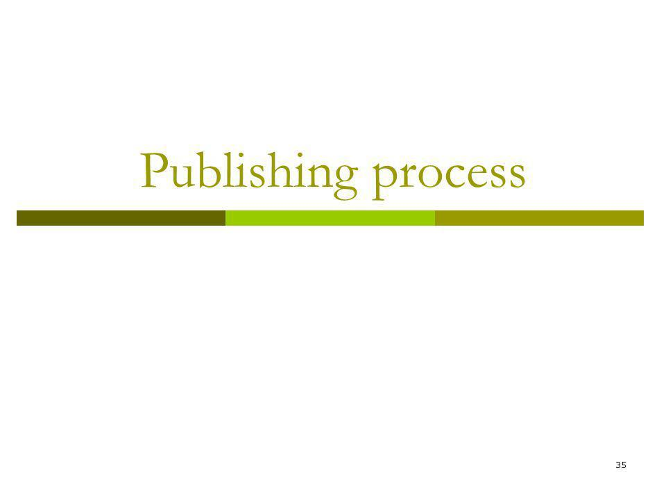 35 Publishing process