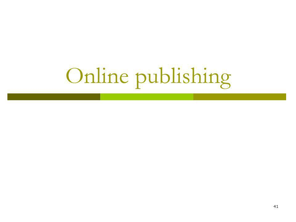 41 Online publishing