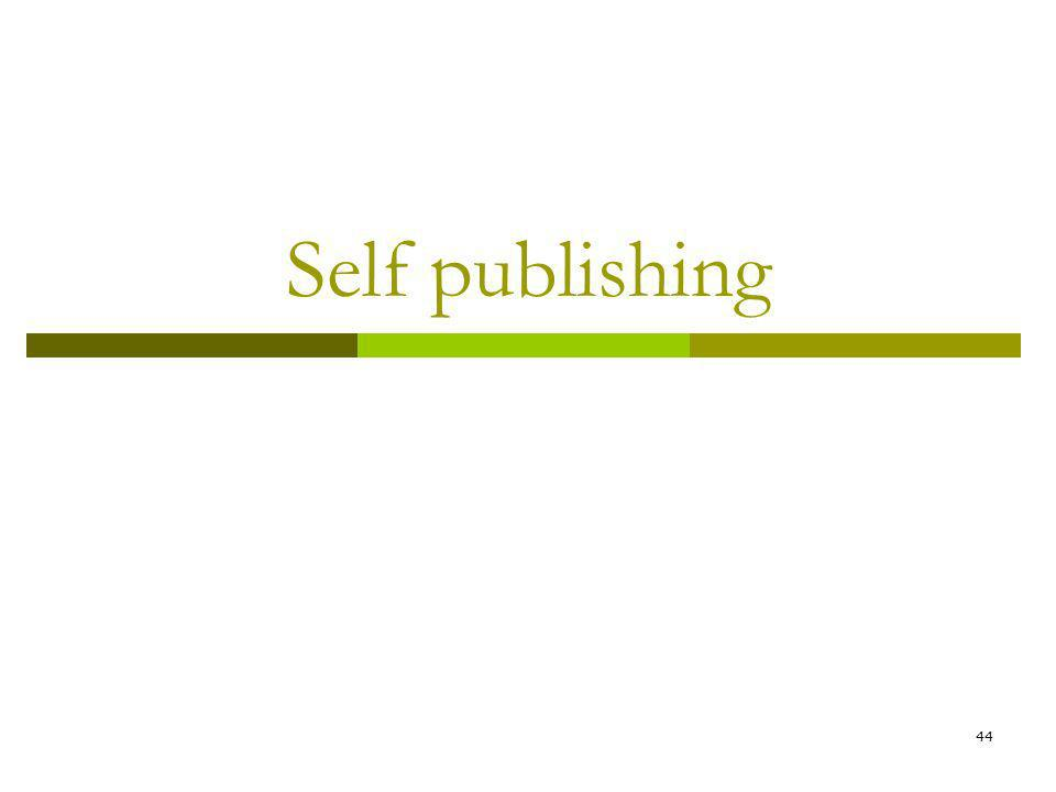 44 Self publishing