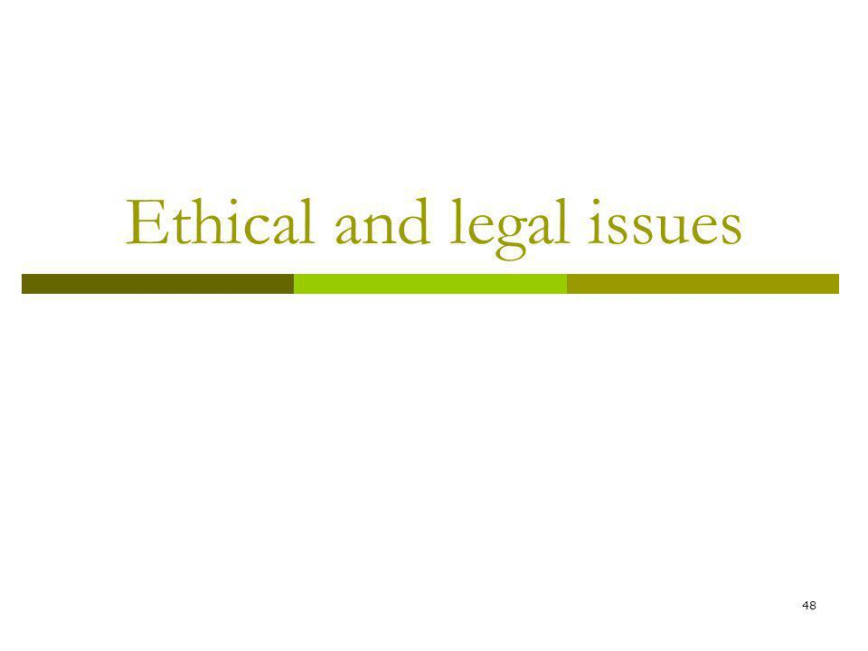 48 Ethical and legal issues