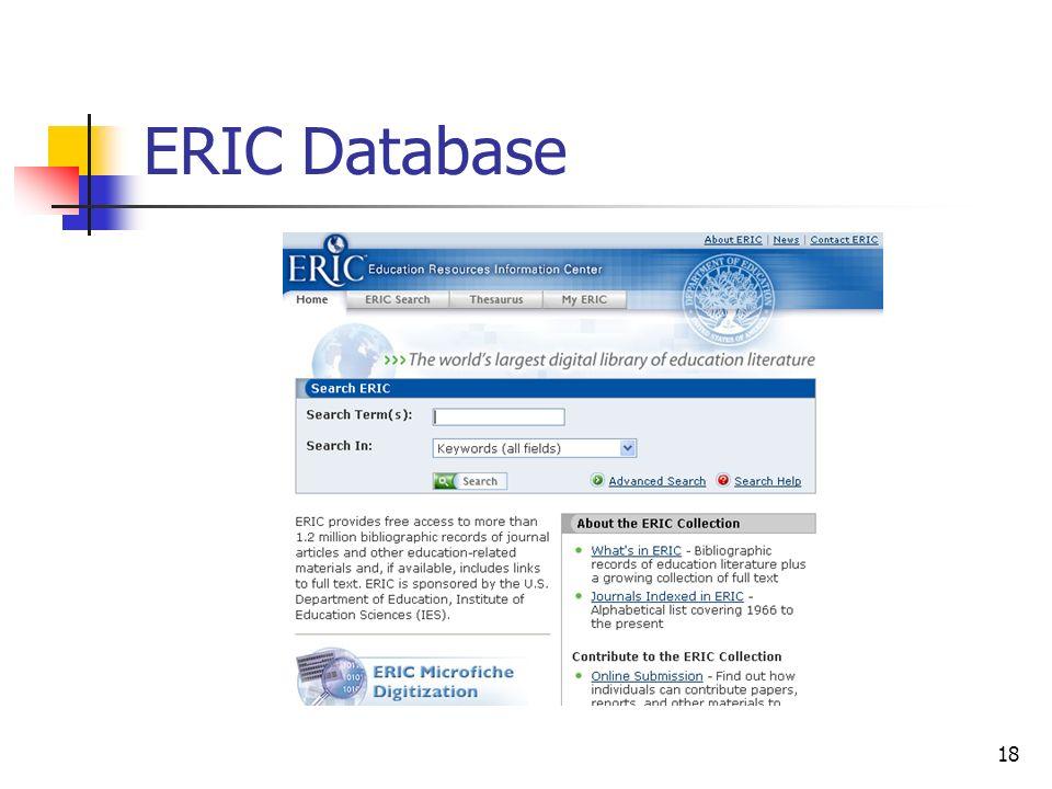 18 ERIC Database