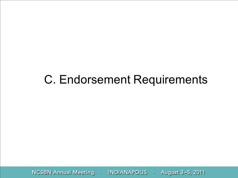 C. Endorsement Requirements
