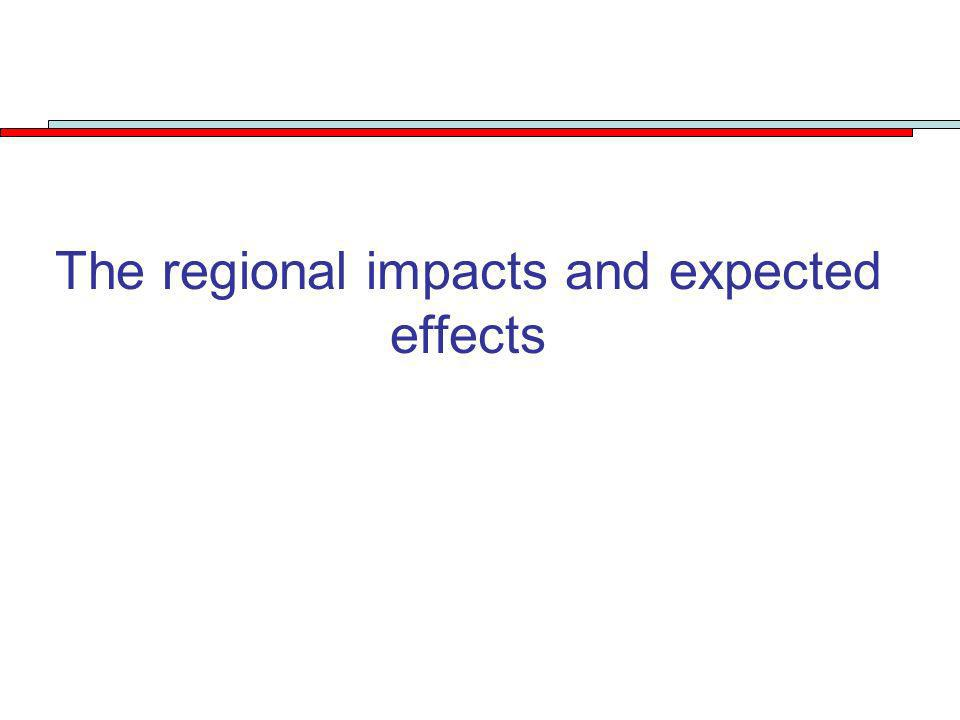 The regional impacts and expected effects