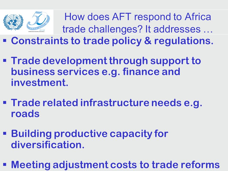 How does AFT respond to Africa trade challenges.