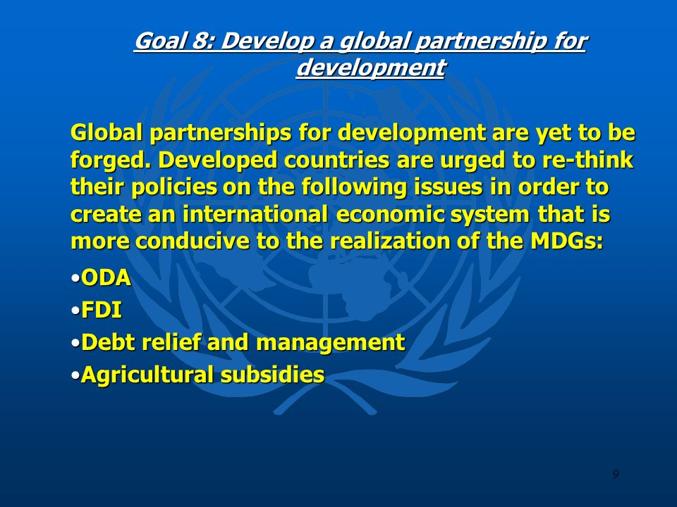 10 MDG-related initiatives undertaken by ESCWA Organizing 3 meetings and workshops (between June 2003 - October 2004) to raise awareness on MDGs; Organizing 3 meetings and workshops (between June 2003 - October 2004) to raise awareness on MDGs; Developing and disseminating specialized datasets on MDGs based on national sources; Developing and disseminating specialized datasets on MDGs based on national sources; Compiling data, statistics and reference material on MDGs in the Arabic language; Compiling data, statistics and reference material on MDGs in the Arabic language; Issuing, by end of 2004, the first regional report covering all 13 member countries and tracking progress towards achieving MDGs.