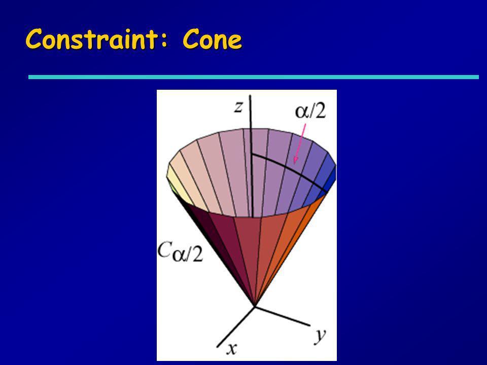 Constraint: Cone