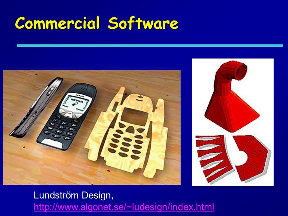 Commercial Software Lundström Design, http://www.algonet.se/~ludesign/index.html http://www.algonet.se/~ludesign/index.html