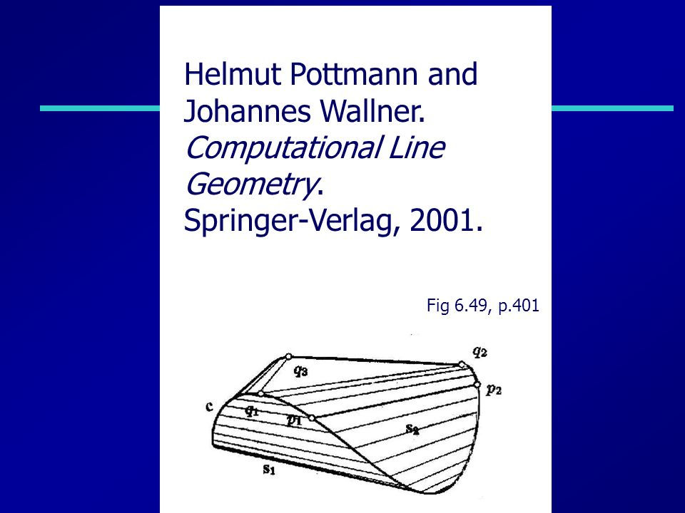 Fig 6.49, p.401 Helmut Pottmann and Johannes Wallner.