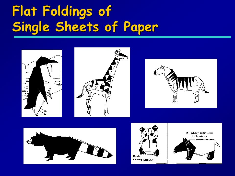 Flat Foldings of Single Sheets of Paper