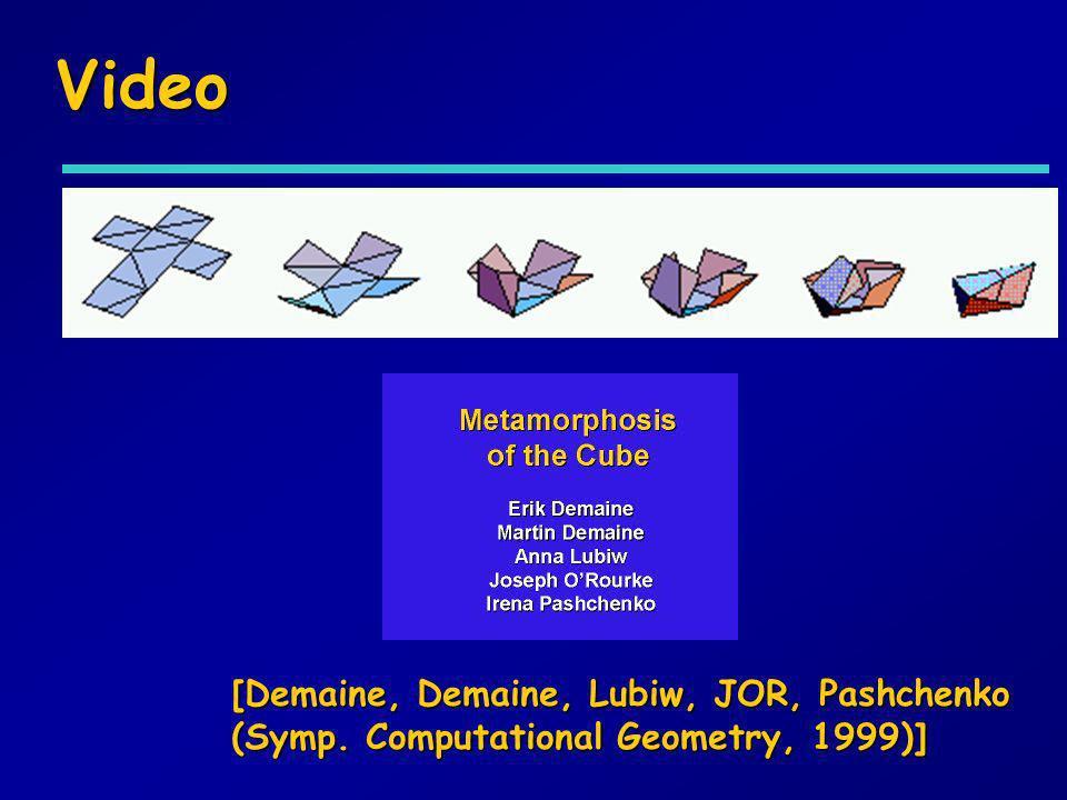 Video [Demaine, Demaine, Lubiw, JOR, Pashchenko (Symp. Computational Geometry, 1999)]