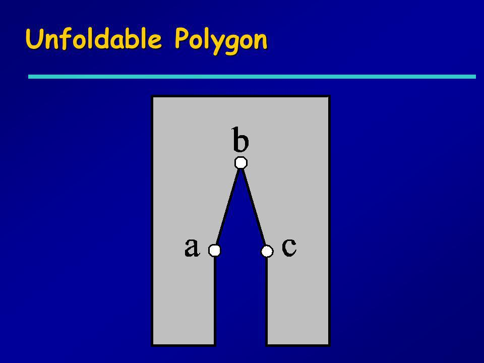 Unfoldable Polygon