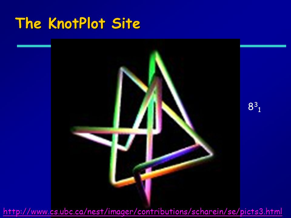 The KnotPlot Site