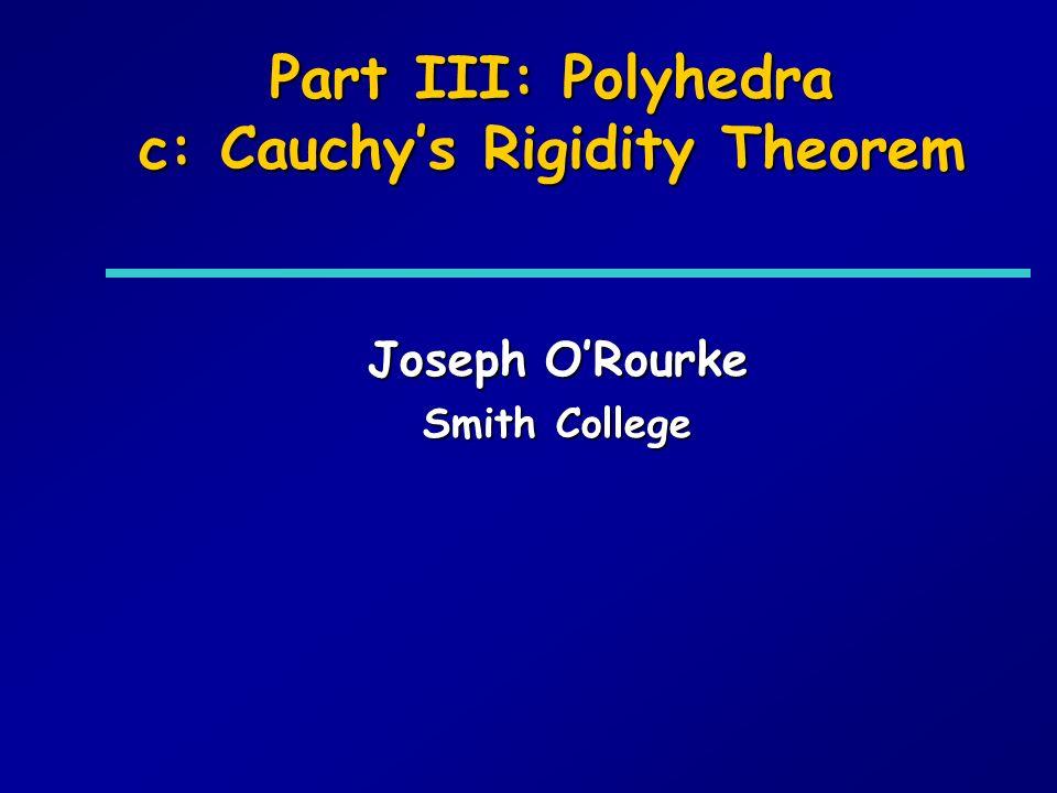 Outline: Reconstruction of Convex Polyhedra zCauchy to Sabitov (to an Open Problem) yCauchys Rigidity Theorem yAleksandrovs Theorem ySabitovs Algorithm
