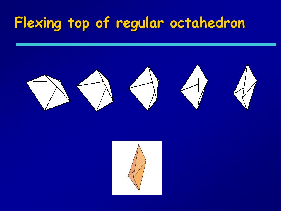 Flexing top of regular octahedron