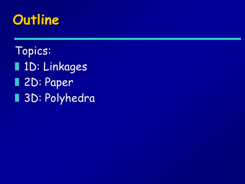 Outline Topics: z1D: Linkages z2D: Paper z3D: Polyhedra