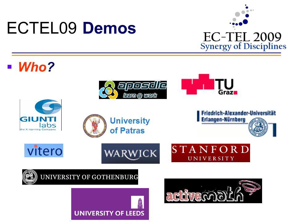 ECTEL09 Demos Who