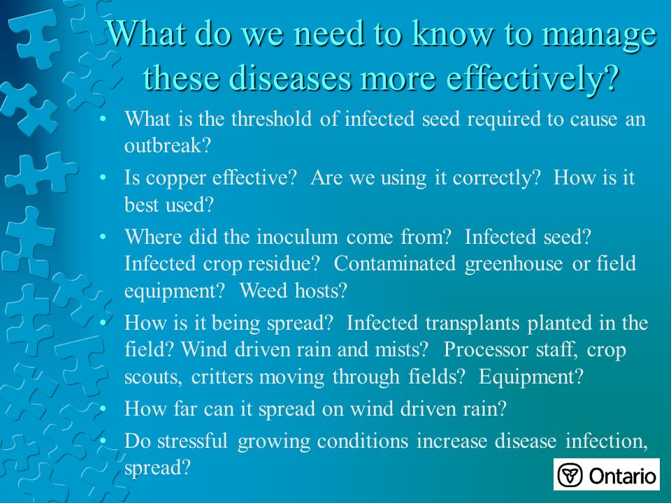 What do we need to know to manage these diseases more effectively.