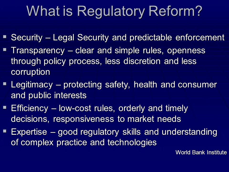 What is Regulatory Reform.