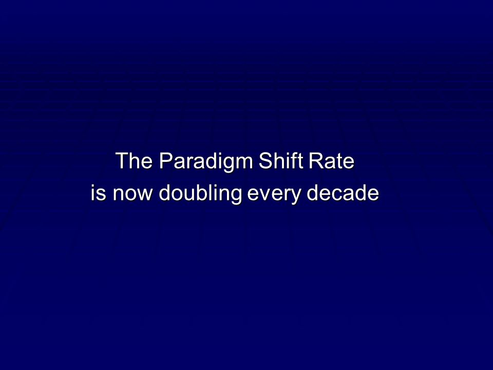 The Paradigm Shift Rate is now doubling every decade