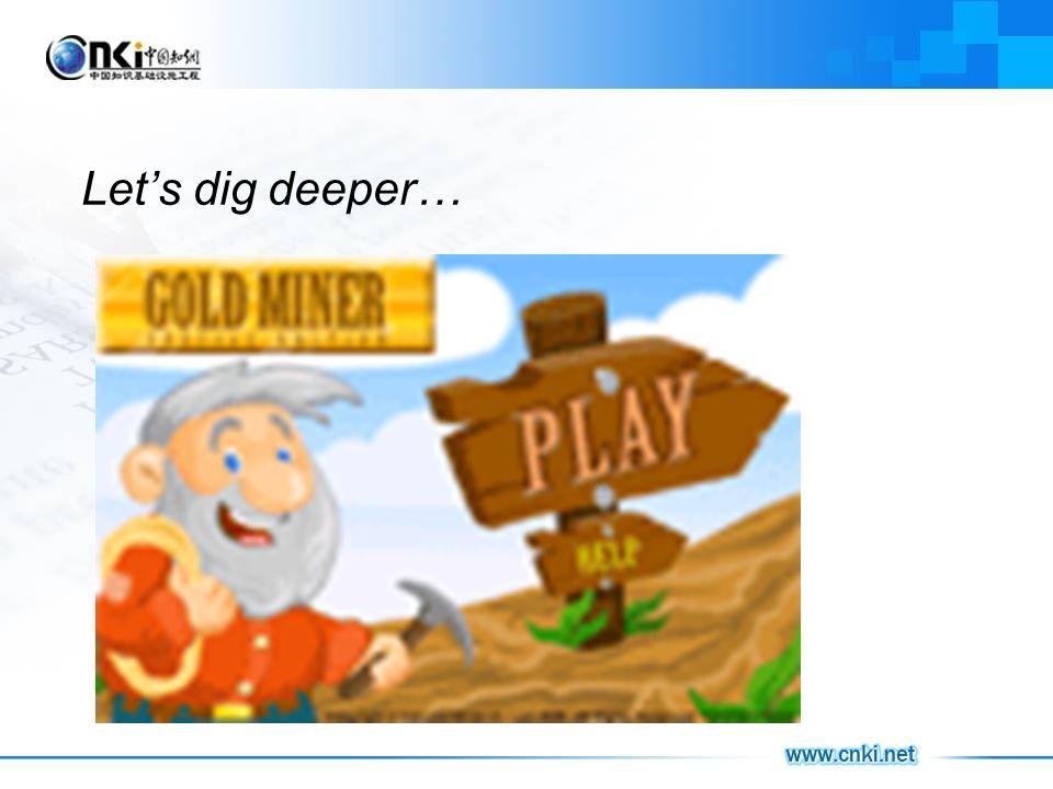 Lets dig deeper…