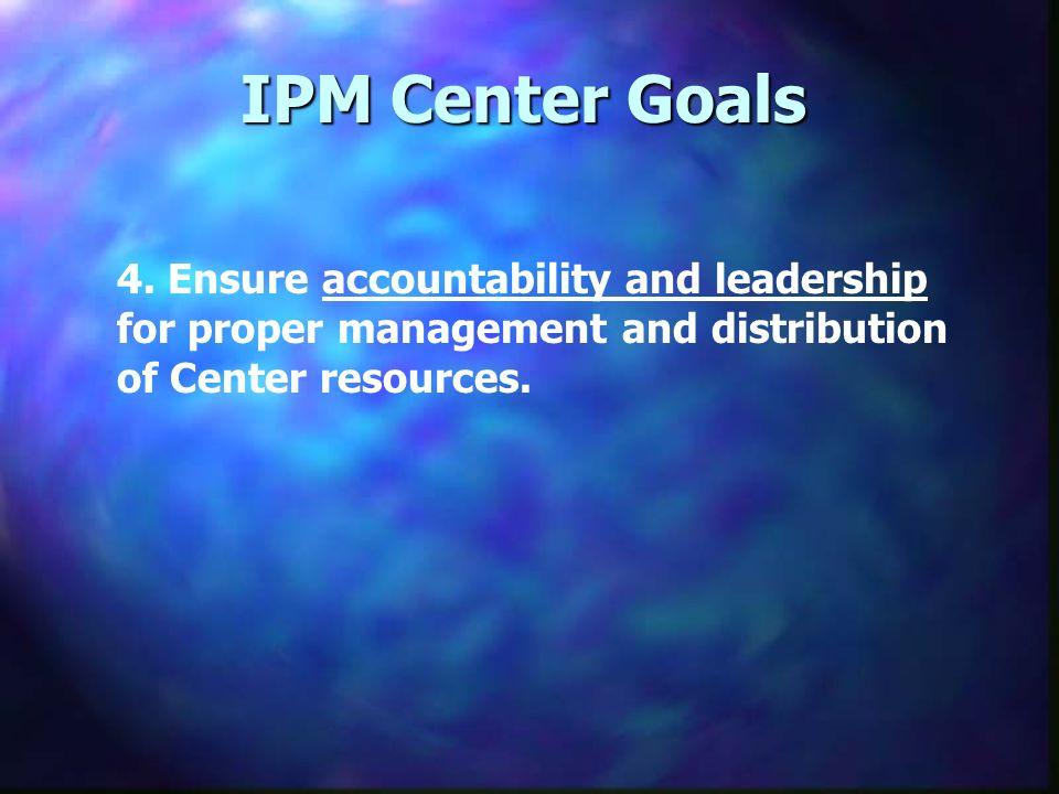 IPM Center Goals 4.