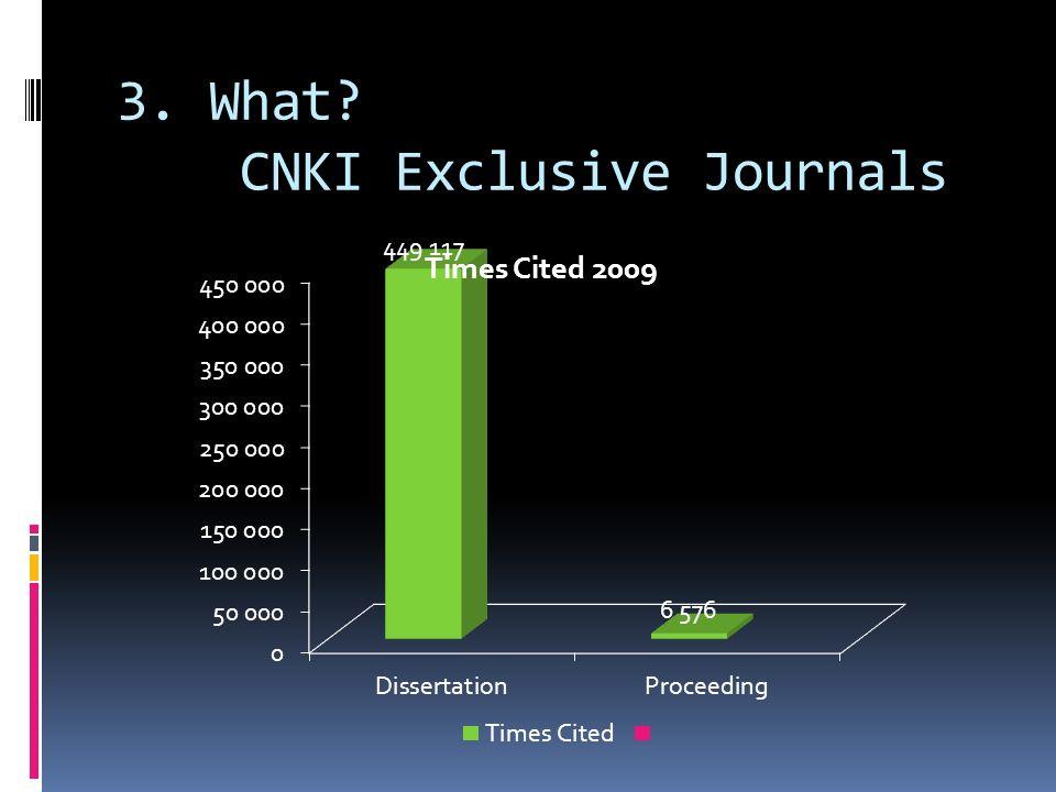 3. What? CNKI Exclusive Journals