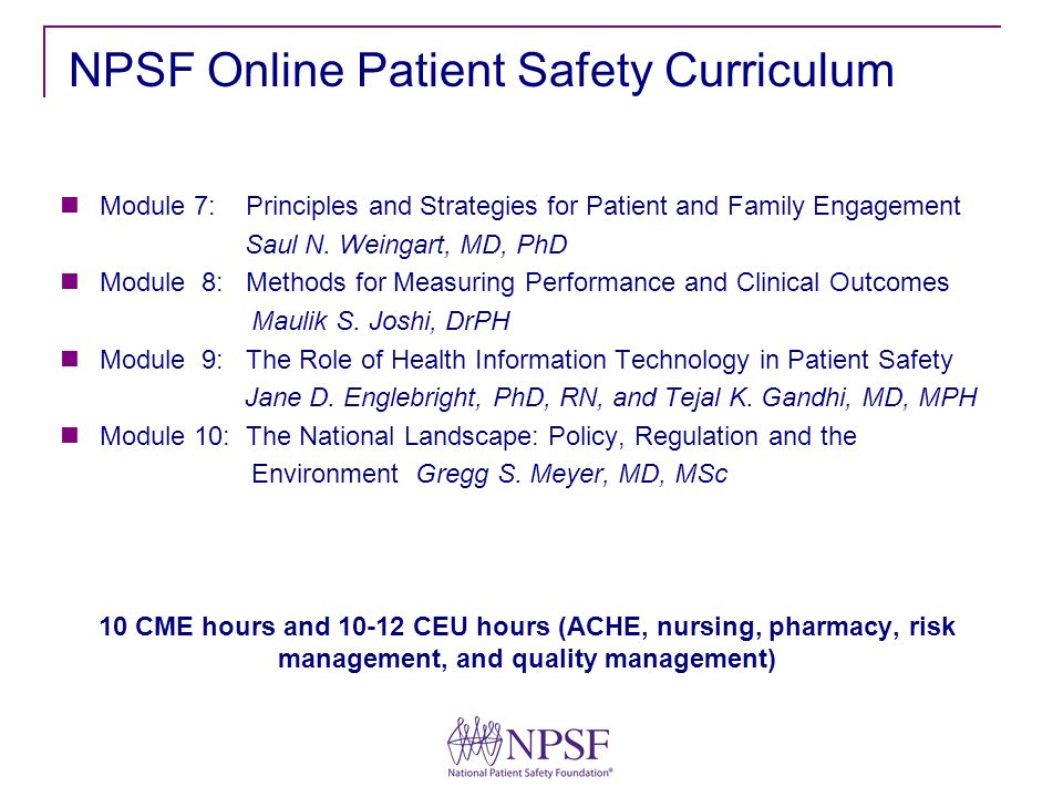 Module 7: Principles and Strategies for Patient and Family Engagement Saul N.