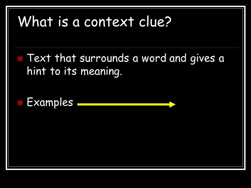 Description Description: explains what the word is like.