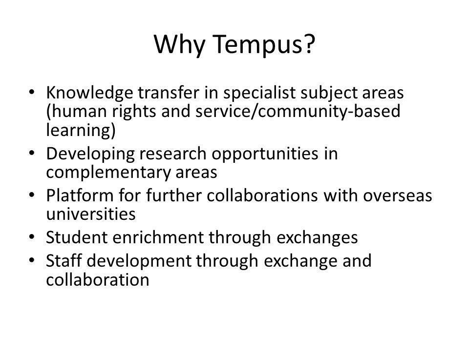 Why Tempus.