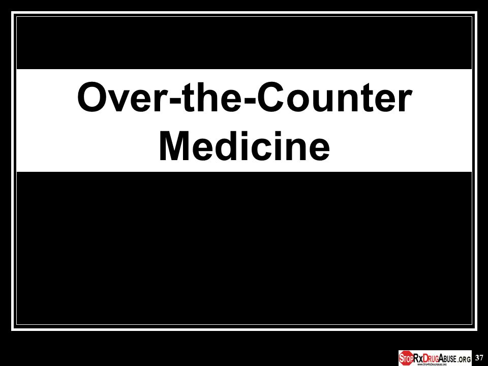 37 Over-the-Counter Medicine