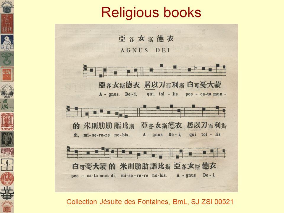 Religious books Collection Jésuite des Fontaines, BmL, SJ ZSI 00521