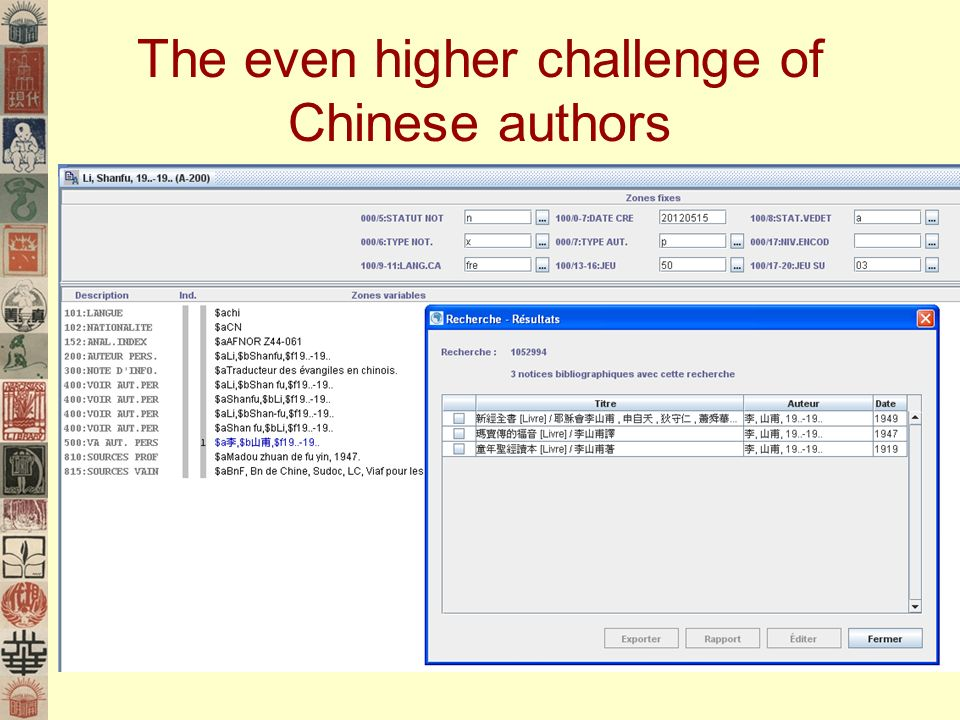 The even higher challenge of Chinese authors