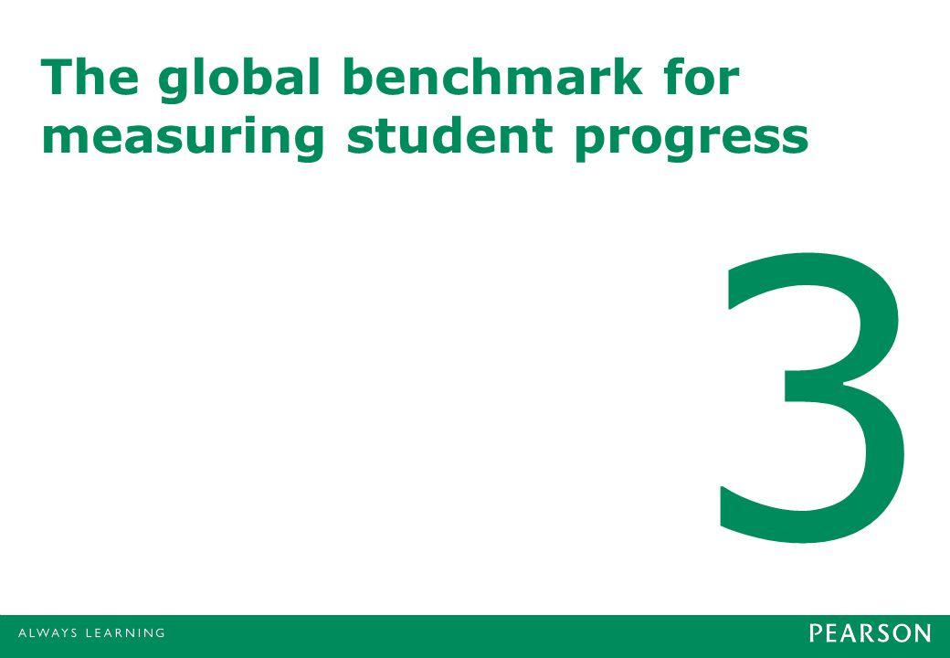 The global benchmark for measuring student progress 3