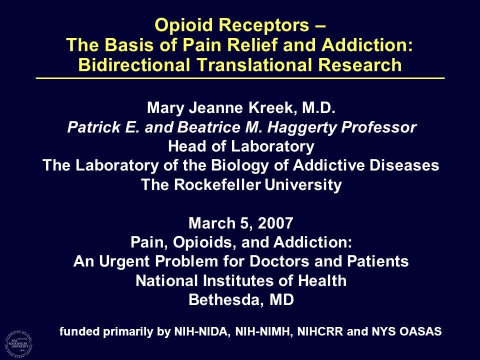 Mu Opioid Receptor-Endorphin System: REWARD Acute Binge Pattern Cocaine Increases Mu Opioid Receptor mRNA Levels and Chronic Cocaine Increases Mu Opioid Receptor Density in Rat Control 1 3 Cocaine 2 4 Yuferov et al., Brain Res.